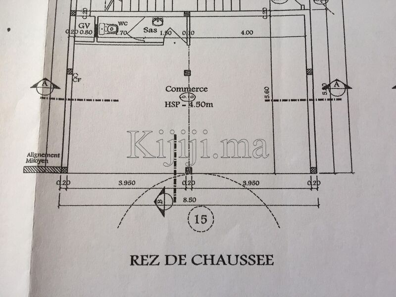 local commercial 45 m² - 1