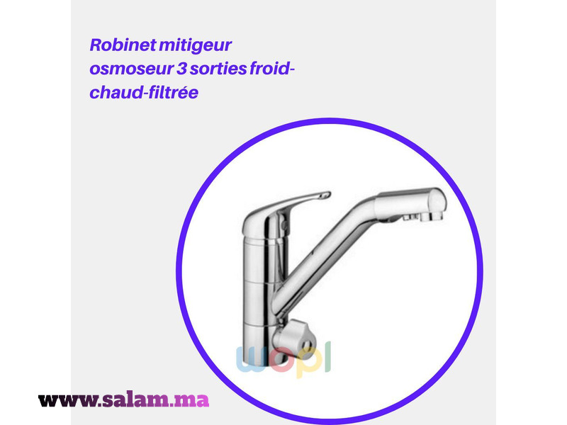 Robinet 3 Sorties Pour Osmoseur - 1